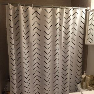 Society6 shower curtain